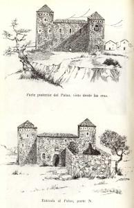 Dibujo del Palau de Pedro Tejedor