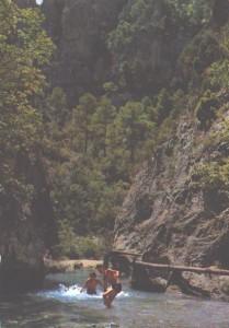 Badina negra Matarraña Beceite Teruel