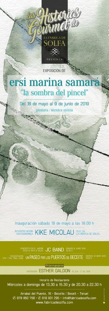 La Fábrica de Solfa – Ersi Marina Samará – Cartel exposición